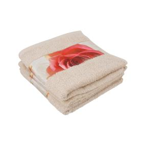 Premium Handtuch 4er Set, mit Rosenbordüre