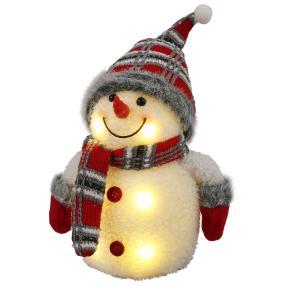 LED-Schneemann mit weißen LED's, 26 cm Hoch