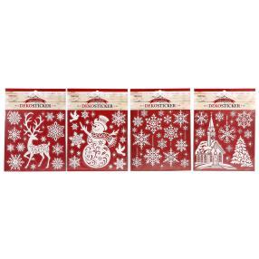Dekosticker Weihnachten, 4 Motive, je 18 x 24 cm
