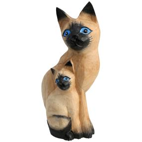 Darimana Balinesische Katzenfigur, Albesiaholz
