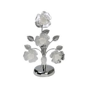 Tischleuchte Rosen, Chrom, 22 x 16 x 37 cm