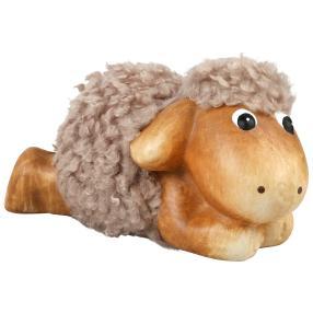 Liegendes Schaf, ca. 24 x 13 x 14 cm