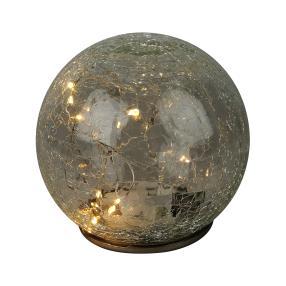 LED-Kugel mit Crackle-Optik, ca. 14 cm