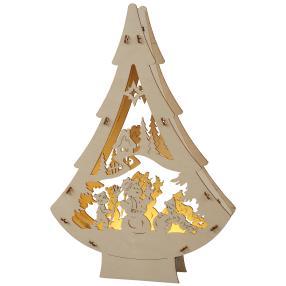 LED-Lichterbaum Schneemann, 20,5 x 30 x 4 cm