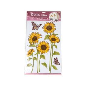 Wandsticker Sonnenblume, 6-teilig