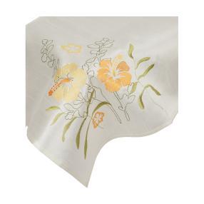Mitteldecke Frühling, mit Stickerei, 85 x 85 cm