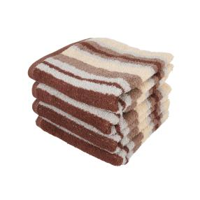 Superflausch Handtuch, gestreift, beige, 4er-Set