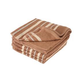 Premium Handtuch, gestreift braun, 4er-Set