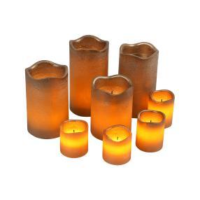 LED-Kerzenset kupfer, 8-teilig
