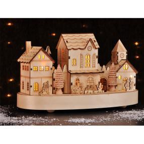 Weihnachtsstadt beleuchtet, 27,5 x 15 x 16,5 cm