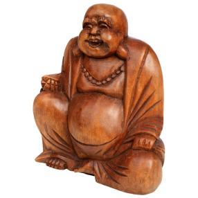 Darimana Happy Buddha Suarholz, 17 cm