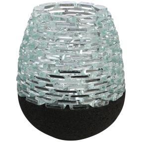 Darimana Teelichter Lava & Glas, 15 x 12 cm