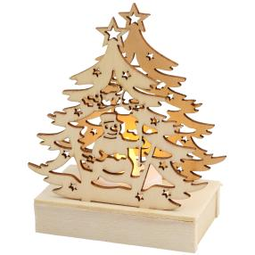 LED Tannenbaum mit Schneemann