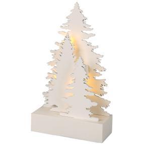 LED Holzbaum weiß, 10,5 x 4,3 x 18 cm