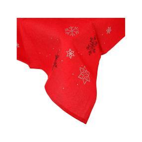 Mitteldecke Schneeflocke, 85 x 85 cm, rot