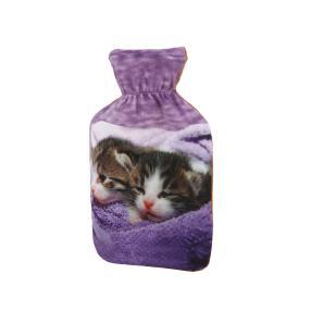 Wärmflasche Katzenbabys, lila, 1 L Füllmenge