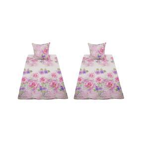 AllSeasons Bettwäsche, bunte Blumen, 4-teilig rosa