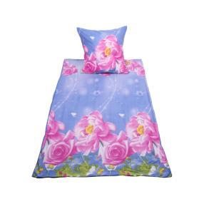 WinterDreams Bettwäsche, rosa-blau, 2-teilig