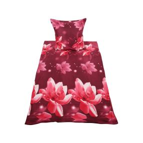 WinterDreams Bettwäsche rosa-bordeaux, 2-teilig