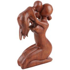Darimana Suarholz Mutter mit Baby, 25 cm