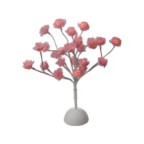 LED Rosenblütenbaum rosé, 24 LEDs, 40 cm