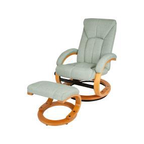 Relaxsessel mit Hocker, grün/braun