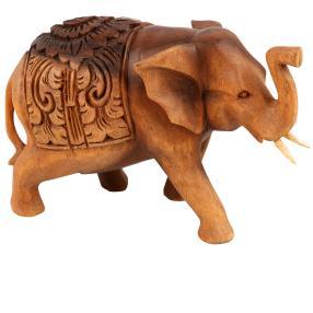 """Darimana Elefant mit Gravur """"Hathi"""", 22 cm"""