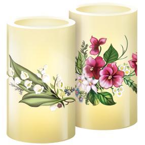 LED-Kerzen Frühlingszauber, 2er Set