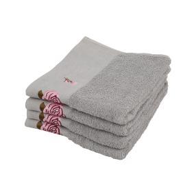 OPTISPLASH Handtuch, silber, 50 x 100 cm, 4er Set