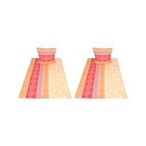 AllSeasons Bettwäsche, rot-orange-gelb, 4-teilig