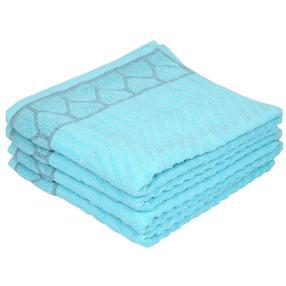 OPTISPLASH Handtuch, blau, 50 x 100 cm, 4er-Set