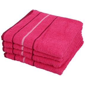 OPTISPLASH Handtuch, pink, 50 x 100 cm, 4er Set