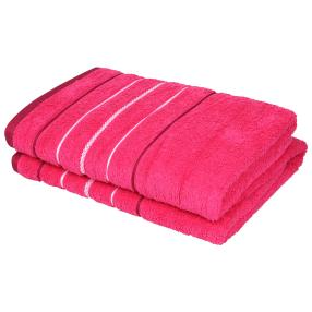 OPTISPLASH Duschtuch, pink, 70 x 140 cm, 2er-Set