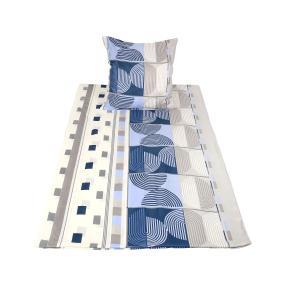 CoolSummer Bettwäsche, blau-grau, 2-teilig