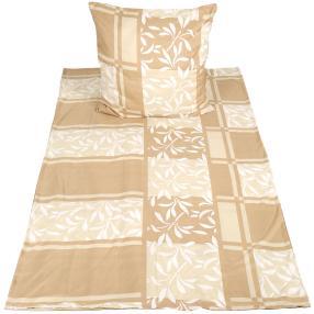 CoolSummer Bettwäsche, beige-weiß, 2-teilig