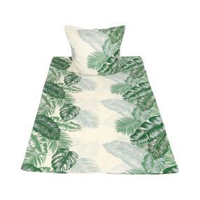 CoolSummer Bettwäsche, beige-grün, 2-teilig