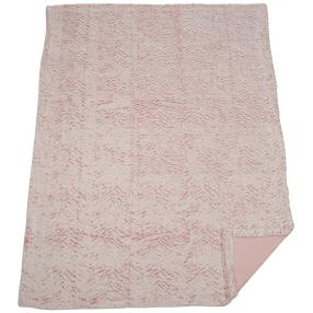 Luxus-Wohndecke Plüsch mit Armstulpen, rosé