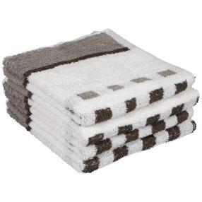 Premium Handtuch grau, 50 x 100 cm, 4er-Set