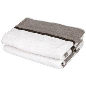 Premium Duschtuch grau, 70 x 140 cm, 2er-Set