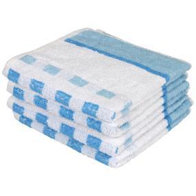Premium Handtuch blau, 50 x 100 cm, 4er-Set