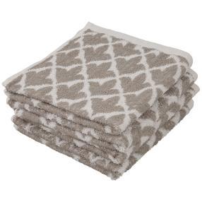 Handtuch grau, 50 x 100 cm, 4er Set