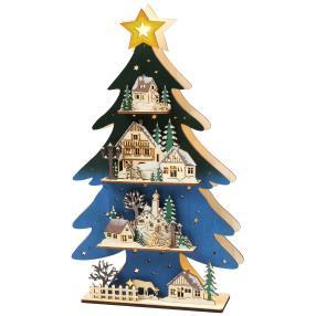 LED-Weihnachtsbaum, 22 x 37 x 5,5 cm