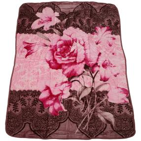 WinterDreams Kuscheldecke rosé-braun 150 x 200 cm