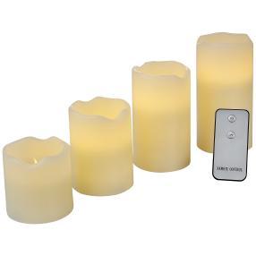 LED-Kerzen mit Fernbedienung, 4-teilig