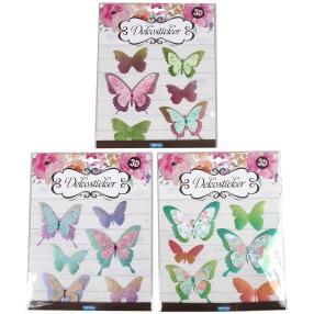 Dekosticker 3D Schmetterlinge, 18-teilig