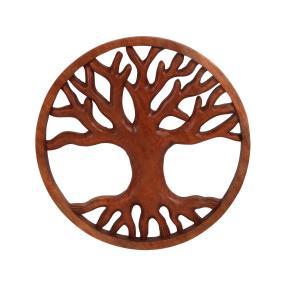 Darimana, Wandbild Lebensbaum, Suarholz, 40 cm