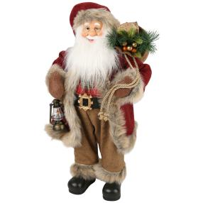 Weihnachtsmann Bobby, braun/weinrot, 60 cm