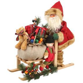 Santa mit Schlitten 45 cm