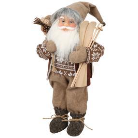 Weihnachtsmann grau, 45 cm