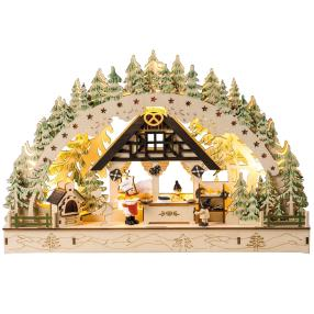 LED-Bogen Weihnachtsbäckerei, 45 x 7,5 x 30 cm
